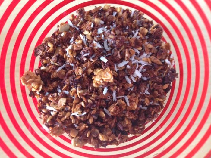 comer bem e ser feliz: granola de coco e gengibre