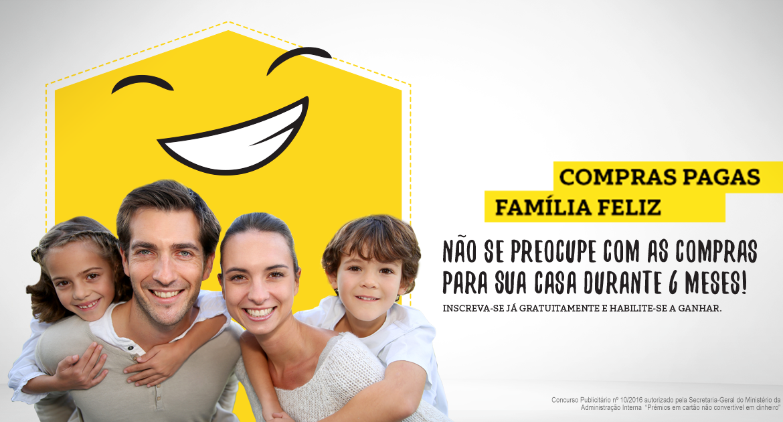 compras pagas, família feliz